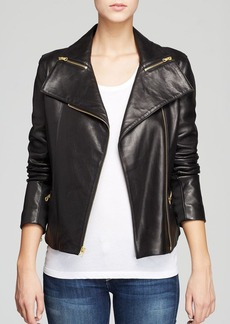Via Spiga Jacket - Asymmetric Zip Front Moto