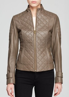 Via Spiga Jacket - Zip Front Leather