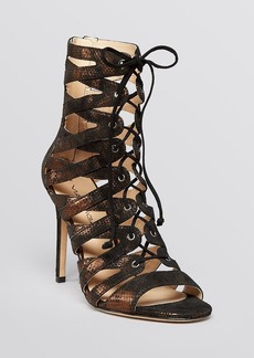 Via Spiga Lace Up Evening Sandals - Teaira High Heel
