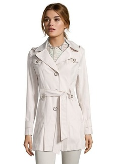 Via Spiga muslin water repellent cotton blend 3/4 hood-removable trench