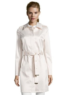 Via Spiga nude satin belted trench coat