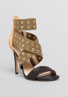 Via Spiga Open Toe Grommet Stud Sandals - Tashara High Heel