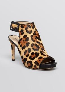 Via Spiga Open Toe Platform Sandals - Nino 2 Leopard High Heel