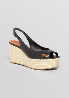 Via Spiga Open Toe Platform Wedge Espadrille Sandals - Luciana