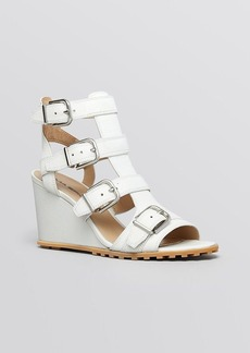 Via Spiga Open Toe Platform Wedge Sandals - Luxie