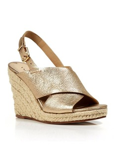Via Spiga Open Toe Slingback Platform Wedge Espadrille Sandals - Rosette - Bloomingdale's Exclusive