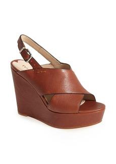 Via Spiga 'Orlando' Platform Wedge Leather Sandal (Women)