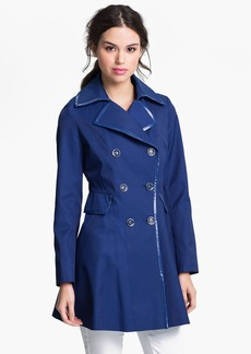 Via Spiga Patent Trim Trench Coat (Regular & Petite) (Online Only)