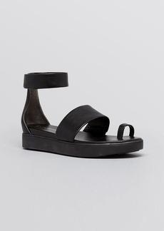 Via Spiga Platform Sandals - Coco Metallic