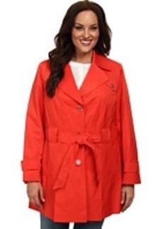 Via Spiga Plus Size Single Breasted Scarpa Coat