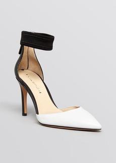 Via Spiga Pointed Toe Ankle Strap Pumps - Ife High Heel