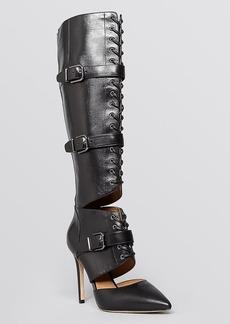 Via Spiga Pointed Toe Boots - Franya High Heel