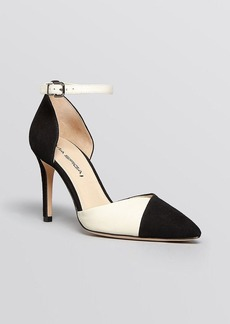 Via Spiga Pointed Toe D'Orsay Ankle Strap Pumps - Ceci High Heel
