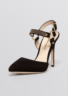 Via Spiga Pointed Toe Pumps - Flo Studded High Heel