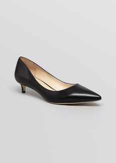 Via Spiga Pointed Toe Pumps - Hue Kitten Heel