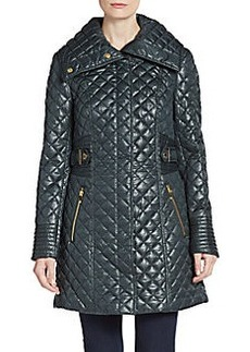 Via Spiga Quilted A-Line Jacket