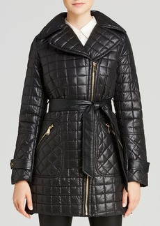 Via Spiga Quilted Belt Coat