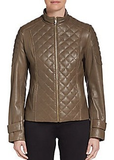 Via Spiga Quilted Leather Jacket