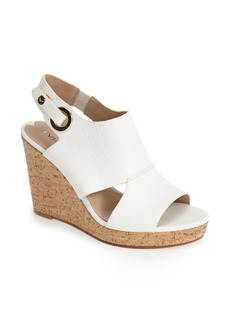 Via Spiga 'Ray' Cutout Leather Wedge (Women)