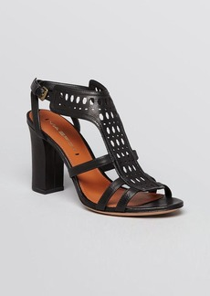 Via Spiga Sandals - Fala Perforated Block Heel