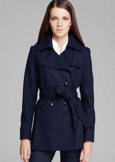 Via Spiga Scarpa Double Breasted Wool Blend Coat