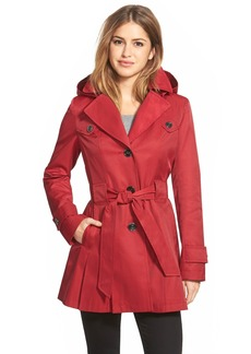 Via Spiga 'Scarpa' Single Breasted Hooded Trench Coat (Regular & Petite)
