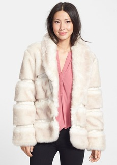 Via Spiga Shawl Collar Faux Fur Jacket (Online Only)