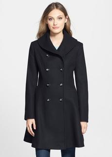 Via Spiga Skirted Wool Blend Coat