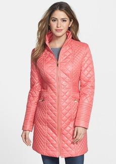 Via Spiga Stand Collar Quilted Coat