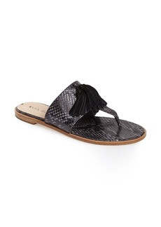 Via Spiga 'Terrin' Snake Embossed Leather Sandal (Women)
