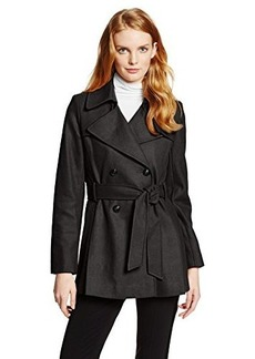 Via Spiga Women's Belted Wool-Blend Trench Coat