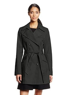 Via Spiga Women's Water-Resistant Double-Breasted Trench Coat