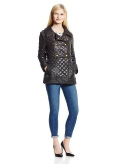 Via Spiga Women's Double Breasted Quilted Jacket