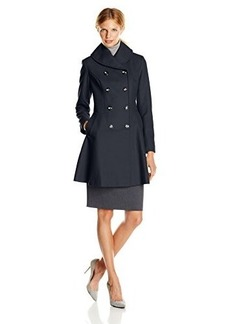 Via Spiga Women's Double-Breasted Wool-Blend Skating Coat