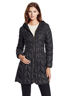 Via Spiga Women's Packable Chevron-Quilted Down-Filled Coat