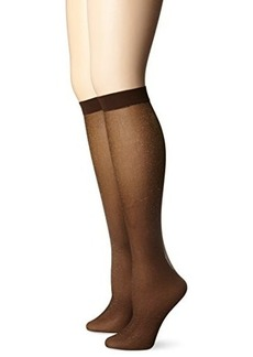 Via Spiga Women's Soft Shimmer Sheer Knee High Sock