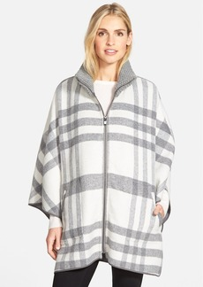 Via Spiga Zip Front Plaid Cape