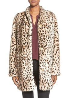 Via Spiga Faux Cheetah Fur Coat