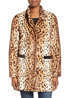 Via Spiga Faux Leopard Fur Topper