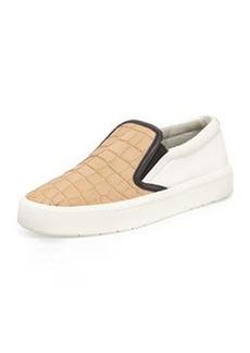 Vince Banler Colorblock Leather Sneaker, Nude/Bone/Black
