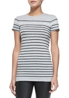 Breton-Stripe Boy Tee, Heather Gray   Breton-Stripe Boy Tee, Heather Gray