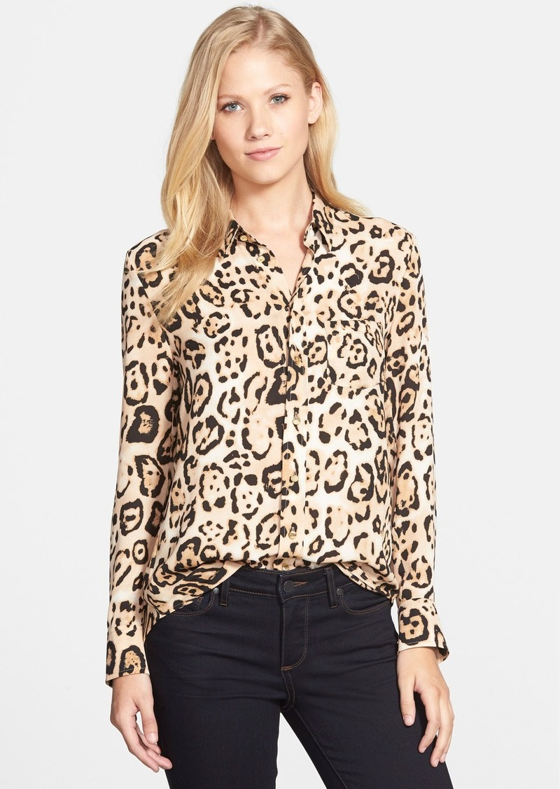 Vince camuto vince camuto animal print blouse casual for Vince tee shirts sale