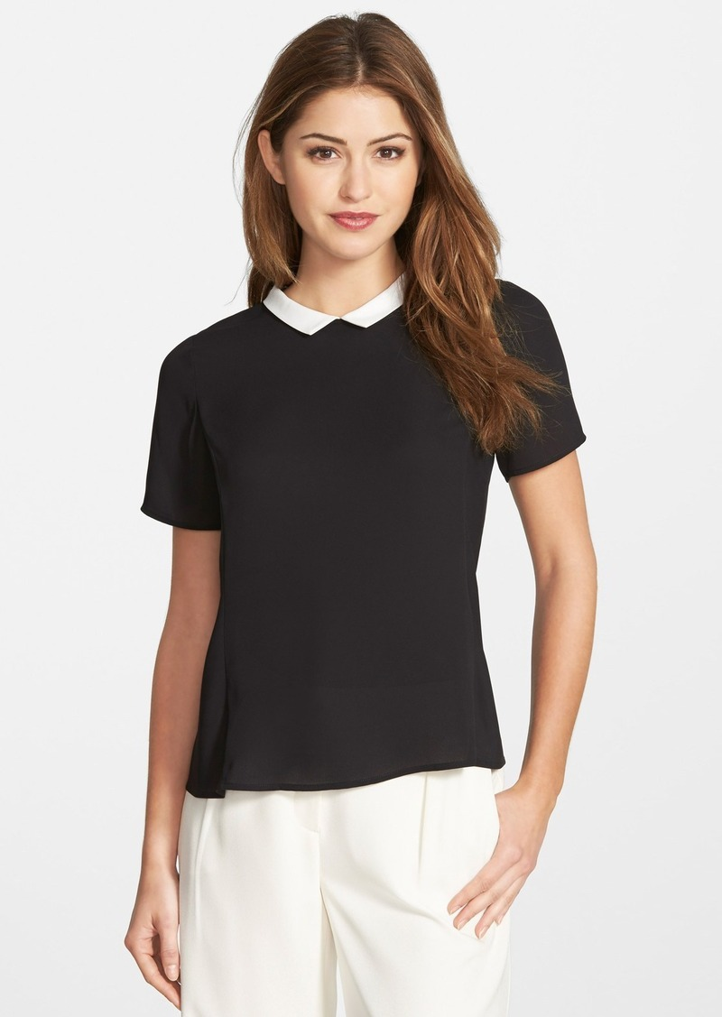 Vince camuto vince camuto colorblock collar short sleeve for Vince tee shirts sale