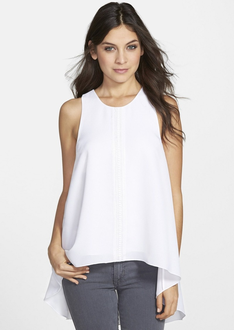 Vince camuto vince camuto embroidered georgette high low for Vince tee shirts sale