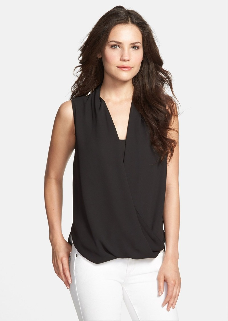 Vince camuto vince camuto faux wrap shirttail blouse for Vince tee shirts sale