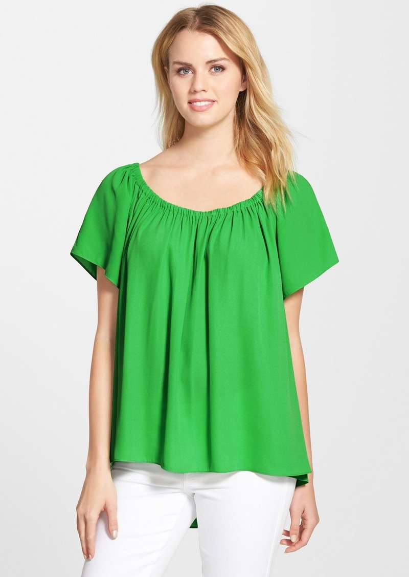 Vince camuto vince camuto off shoulder high low blouse for Vince tee shirts sale