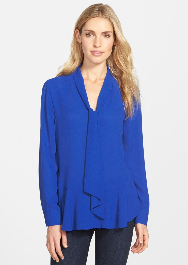 Vince camuto vince camuto tie neck ruffled hem blouse for Vince tee shirts sale