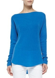 Cashmere Ribbed Boatneck Sweater   Cashmere Ribbed Boatneck Sweater