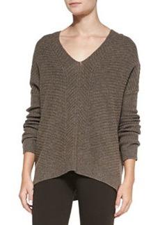 Chevron Double V-Neck Sweater   Chevron Double V-Neck Sweater