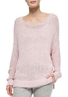 Chunky Knit Drop-Sleeve Sweater   Chunky Knit Drop-Sleeve Sweater